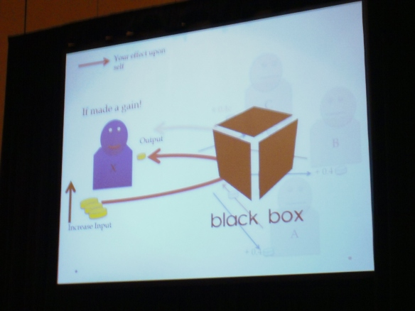 The Black Box approach to public goods games.